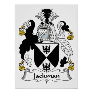 Jackman Family Crest Poster