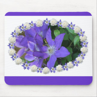 jackman's clematis mouse pad