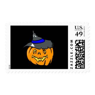 Jackolantern en gorra de las brujas sellos