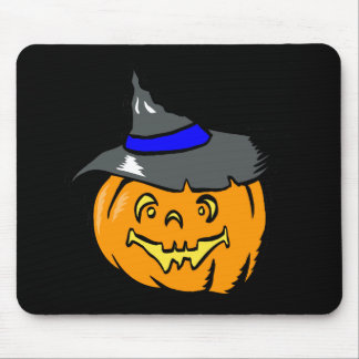 Jackolantern in witches hat mousepad