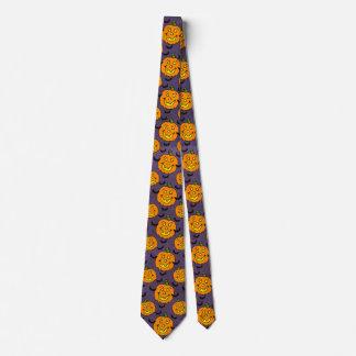 Jackolanterns feliz y palos corbatas