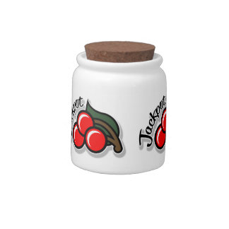 Jackpot Cherries Candy Jar