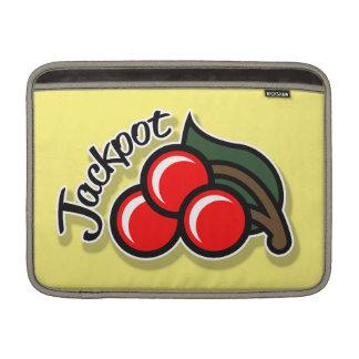 Jackpot Cherries Macbook Sleeve (gold)