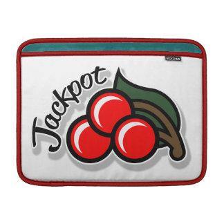 Jackpot Cherries Macbook Sleeve (light)