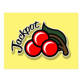 Jackpot Cherries Postcard (gold)