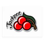 Jackpot Cherries Postcard (light)