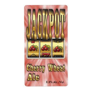 Jackpot Cherry Wheat Ale Label