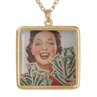 Jackpot Gold Plated Necklace