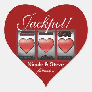 Jackpot Hearts We're Doing It In Vegas Heart Sticker