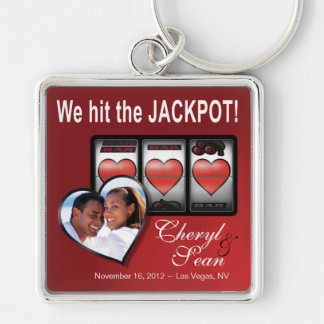 Jackpot Hearts We're Doing It In Vegas Photo Keychain