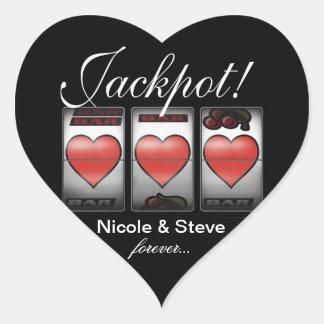 Jackpot Hearts We're Doing It In Vegas Sticker