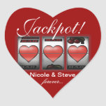 Jackpot Hearts We're Doing It In Vegas Stickers