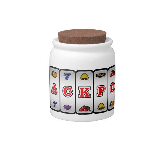 Jackpot Slot Machine Candy Jar