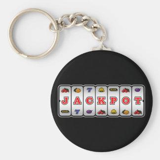 Jackpot Slot Machine Keychain (dark)