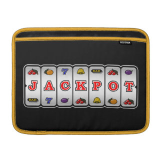 Jackpot Slot Machine Macbook Sleeve (dark)