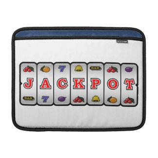 Jackpot Slot Machine Macbook Sleeve (light)