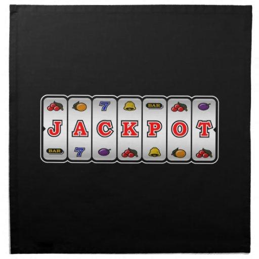 Jackpot Slot Machine Napkins (dark)