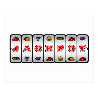 Jackpot Slot Machine Postcard (light)