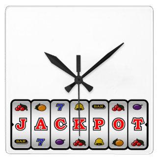 Jackpot Slot Machine Wall Clock (light)