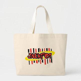Jackpot Winner - Retro Gambling Style Canvas Bags