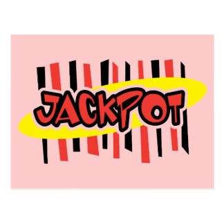 Jackpot Winner - Retro Gambling Style Postcard