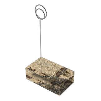 Jackrabbit de cola negra soportes de tarjeta de mesa