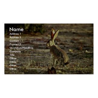 Jackrabbit de cola negra tarjetas de visita