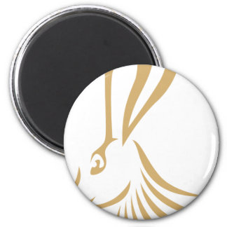 Jackrabbit en estilo del dibujo del chasquido iman para frigorífico