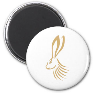 Jackrabbit in Swish Drawing Style 2 Inch Round Magnet