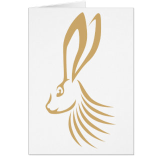 Jackrabbit in Swish Drawing Style Greeting Cards