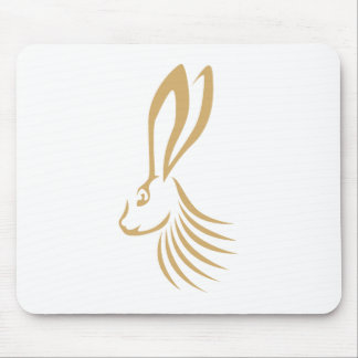 Jackrabbit in Swish Drawing Style Mouse Pad