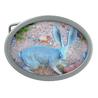 jackrabbit lucky beltbuckle oval belt buckle