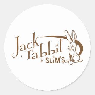 Jackrabbit slims pulp fiction classic round sticker