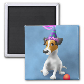 JackRussel Terrier birthday 2 Inch Square Magnet