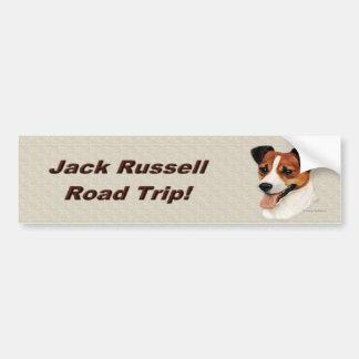 jackrussell2_bumpersticker car bumper sticker