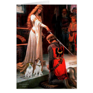 JackRussell Pair 3 - The Accolade Greeting Card
