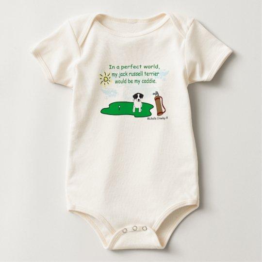 JackRussellBlk Baby Bodysuit