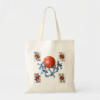 Jacks and Ball 1960s Retro Classic Toy Tote Bag Re
