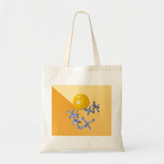 Jacks and Ball Baby Boomer 1960s Toys Games Tote Bag