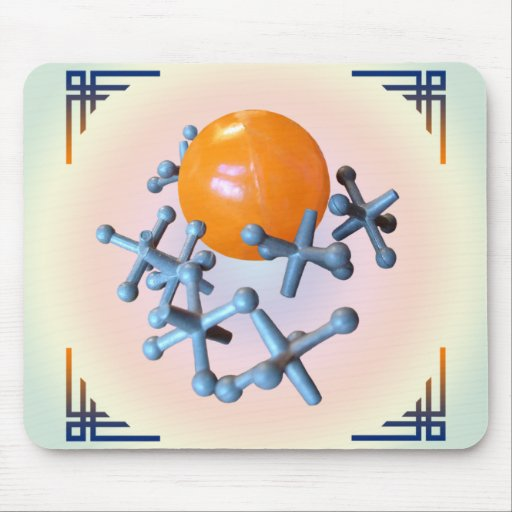Jacks and Ball Classic Vintage Retro Games Toys Mouse Pad
