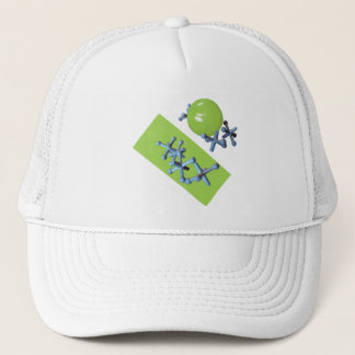 Jacks and Ball Lime Green Old Fashioned Game Trucker Hat