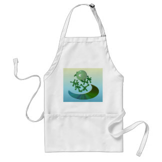 Jacks and Ball Vintage Toy Game Apron Green