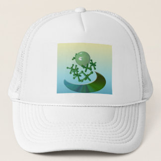 Jacks and Ball Vintage Toy Game Hat Cap Green
