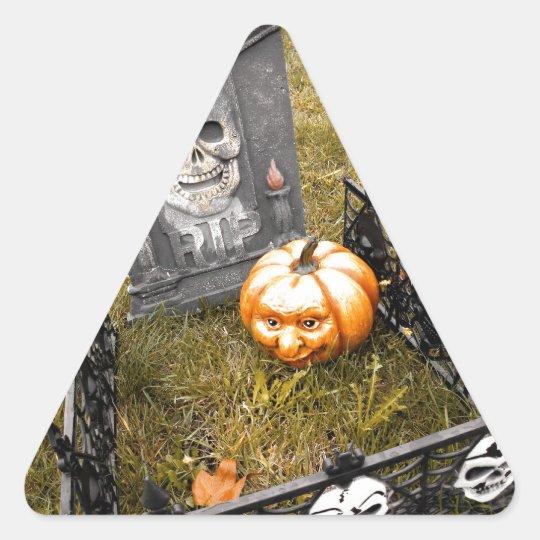 Jacks Face Triangle Sticker