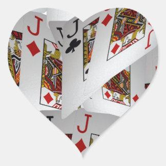 Jacks In A Layered Pattern,_ Heart Sticker