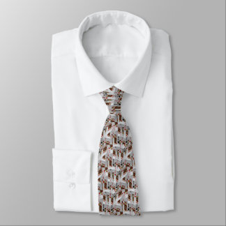 Jacks In A Layered Pattern,_ Neck Tie