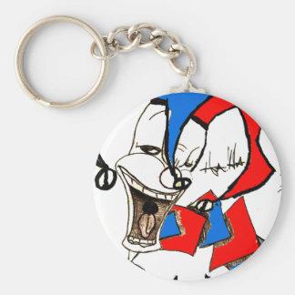 Jacks in the Box (Clown Sketch) Basic Round Button Keychain