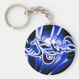 Jackson Basic Round Button Keychain