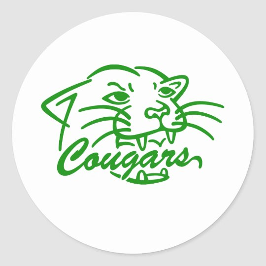 Jackson Central Merry Cougars Classic Round Sticker