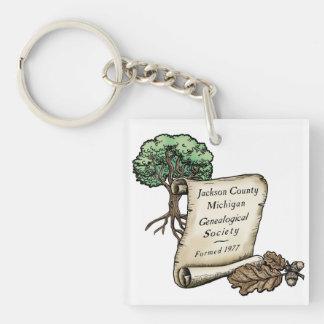 Jackson county Mich Genealogical Society key tag Keychain